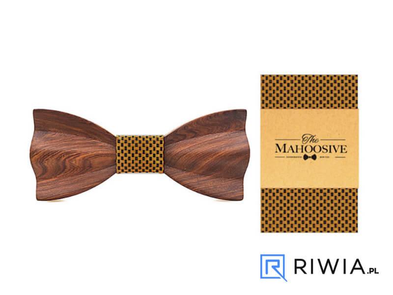 5793036580a589 Kup teraz! Mucha z drewna + poszetka brązowa M11 - Sklep Riwia.pl